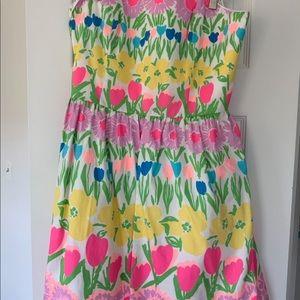 Strapless lily pulitzer tulip dress